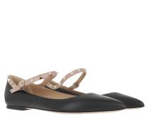 Ballerinas Rockstud Mule Leather Black Poudre