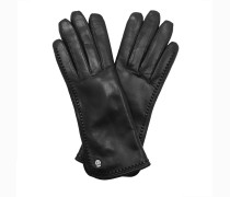 Handschuhe Women Classic Leather Gloves Black