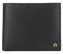 Portemonnaie Basic Wallet Leather Black