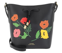 Dryden Drawstring Bag Black/Multi Floral