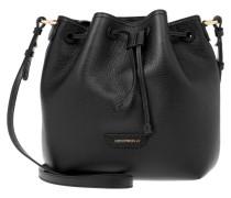 Tasche - Grainy Leather Bucket Bag Black
