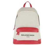 Navy Backpack Bianco/Rosso Rucksack rot