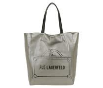 Rue Lagerfeld Shopper Gunmetal Tote