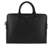 Harrison LG Double Pocket Briefcase Black Aktentasche