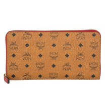 Kleinleder - Color Visetos Large Zip Around Wallet Cognac