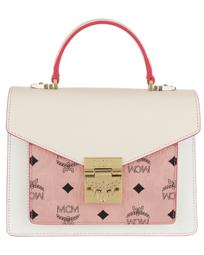 Satchel Bag Patricia Visetos Leather Block Satchel Small Soft Pink/Shell rosa