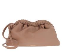 Umhängetasche Mini Cloud Clutch Leather Biscotto