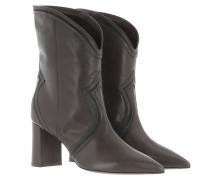 Boots Ankle Boot No Zip Vintage Dark Grey