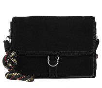 Cliffside Slim Shoulder Bag Suede Black Umhängetasche