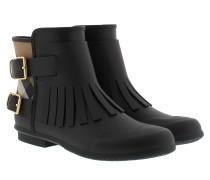 Fringe Rain Boots Black Schuhe