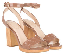 Sandalen - Felicita High Sandal III Patent Light Brown