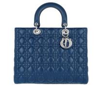 Lady Dior Grande Mineral Blue Tote