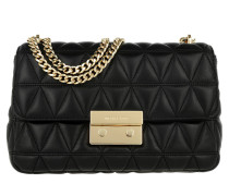 Sloan LG Gold Chain Shoulder Black Umhängetasche