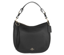 Hobo Bag Pebble Sutton Leather Black