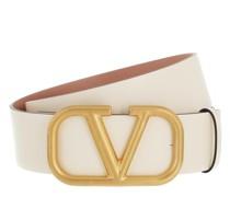 Gürtel Reversible V Logo Belt Glossy Calfskin