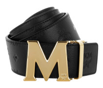Embossed Logo Flat M Belt Black 130 cm Gürtel