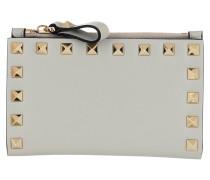 Portemonnaie Rockstud Wallet Leather Opal Grey