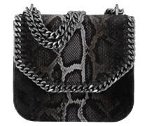 Falabella Box Python Velvet Umhängetasche Bag Medium Brown grau