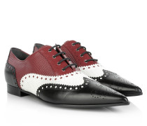 Loafers & Slippers - Gia Brogue Lace-up Shoe Budapester Nero/White/Magnolia