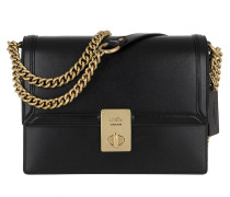 Umhängetasche Refined Calf Leather Hutton Shoulder Bag Black