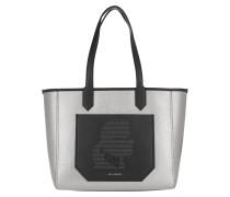Shopper Journey Tote Nylon Metallic Black
