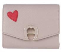 Fashion Heart Wallet Stone Grey Portemonnaie