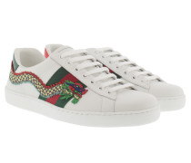 Ace Ambroidered Low-Top Sneakers White Sneakers