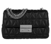 Sloan LG Silver Chain Shoulder Bag Black Umhängetasche