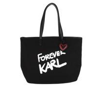 Shopper Forever Canvas Shopping Bag Black