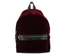 City Backpack Velvet Mini Red Rucksack