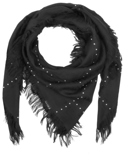 gucci damen gucci schal survie sl scarf studs check black in schwarz schal f r damen. Black Bedroom Furniture Sets. Home Design Ideas
