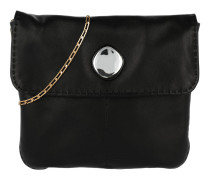 Tasche - Small Croissant Flap Crossbody Bag Black - in schwarz