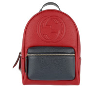 Soho Backpack Grained Hibiscus Red/Blue Rucksack rot