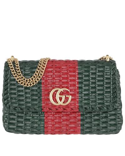Umhängetasche Gucci Wicker Shoulder Bag  Green/Red grün