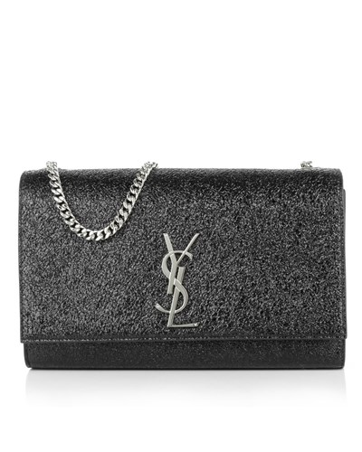 saint laurent damen saint laurent tasche ysl chain clutch black in schwarz umh ngetasche. Black Bedroom Furniture Sets. Home Design Ideas
