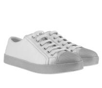 Vitello Lamina Sneakers Argento Sneakerss