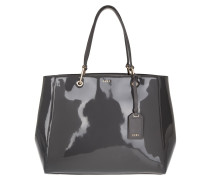 Tote Patent Leather/Buttercalf Trim Dark Charcoal