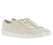Keaton Lace Up MK Signature PVC Vanilla Sneakers beige
