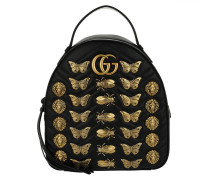 GG Small Marmont Backpack Black Rucksack