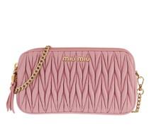 Umhängetasche Matelassé Crossbody Bag Leather Pink