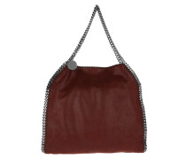 Falabella Shaggy Deer Small Fold-Over Tote Ruby