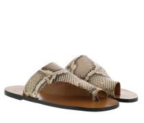 Sandalen Flat Sandal Beige