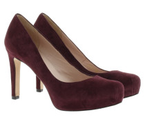 Pumps - Suede Platform Heels Bordo