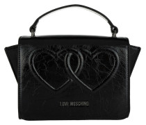 Metallic Umhängetasche Bag Heart Nero