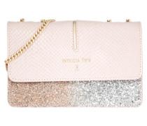 Tasche - Small Crossbody Bag Shiny Rose/ Silver