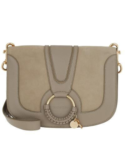 Umhängetasche Hana Crossbody Bag Leather Motty Grey beige