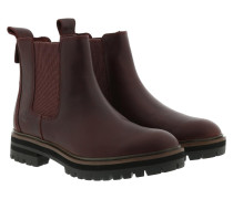 Boots London Square Double Gore Chelsea Boot Dark Port