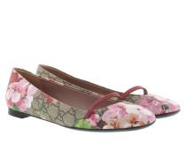 Ballerinas - GG Blooms Flat Ballerina Beige Ebony Multi/Dry Rose
