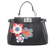 Micro Peekaboo Nappa Shiny Flower Nero/Multicolor Umhängetasche schwarz