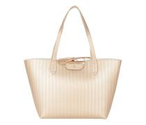 Reversible Shopping Bag Shiny Gold/White Umhängetasche gold